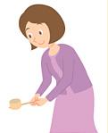 (7)柄杓を元の場所にふせて置きます。