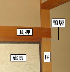 日本家屋の部位について