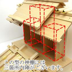 神棚の内陣部分の説明(三社宮)